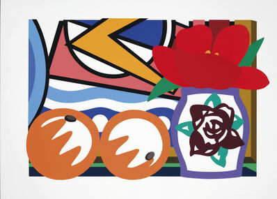 Tom Wesselmann, 'Still life with Lichtenstein and Two oranges', 1992