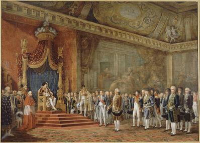 Innocent-Louis Goubaud, 'La Députation du Sénat romain offrant ses hommages à S. M. l'Empereur et Roi, 16 novembre 1809 (The Deputation from the Roman Senate paying homage to Napoleon 1 on 16 November 1809)', 1810