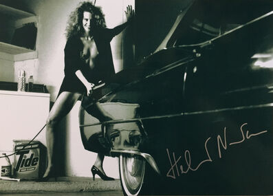Helmut Newton, 'Woman and Cadillac', 1987