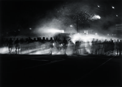 Robert Longo, 'Untitled (Ferguson Police, August 13, 2014)', 2014