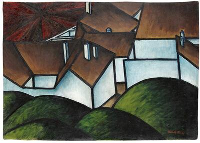 László Moholy-Nagy, 'Landschaft mit Häusern', 1919