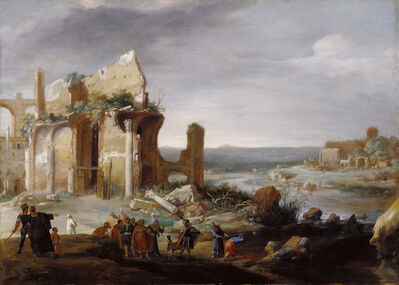 Bartholomeus Breenbergh, 'Moses and Aaron Changing the Rivers of Egypt to Blood', 1631