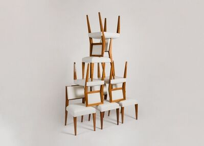 Jacques Quinet, 'Set of Eight Dining Chairs', ca. 1950