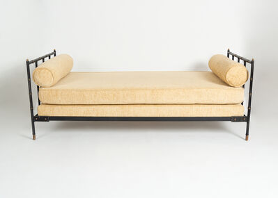 Jacques Adnet, 'Saddle-Stitched Leather Daybed', ca. 1955