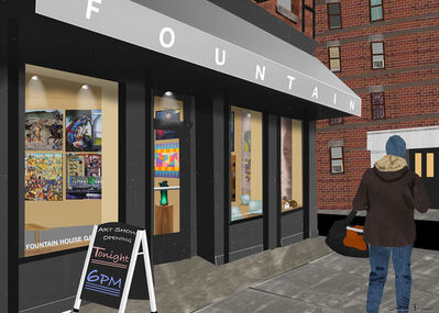 Susan Baus, 'Fountain House Gallery', 2020