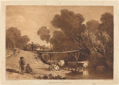 J. M. W. Turner, 'Bridge and Cows', published 1807