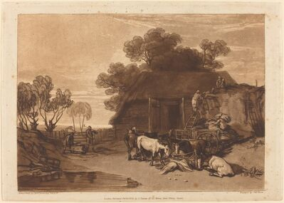 J. M. W. Turner, 'The Straw Yard', published 1808