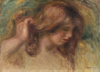 """Pierre-Auguste Renoir, 'Modèle à la main dans les cheveux -Study for """"La Source""""', ca. 1910"""
