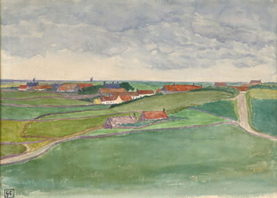 George Copeland Ault, 'Sketch of Framzelle, Pas de Calais, France', 1908