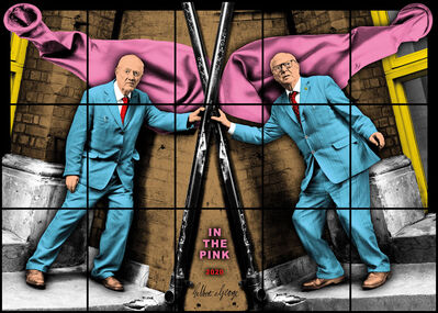 Gilbert and George, 'IN THE PINK', 2020