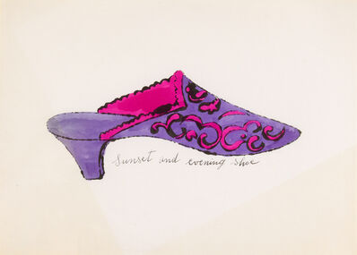 Andy Warhol, 'Sunset and Evening Shoe (A La Recherche Du Shoe Perdu series)', 1955