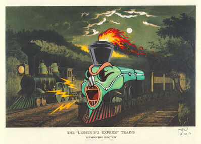 Victor Castillo, 'The Lightning Express Trains, , 13, 1/4 x 16 in (33,6 x 40,6 cm) Framed, 2017', 2017