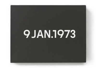 On Kawara, '9 JAN 1973', 1973