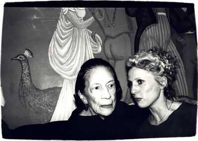 Andy Warhol, 'Andy Warhol, Photograph of Diana Vreeland and Tinkerbelle, 1970s', 1970s
