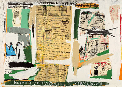 After Jean-Michel Basquiat, 'Jawbone of an Ass', 1982/2004