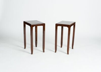 Maison Leleu, 'Pair of Tall Side Tables', 1958