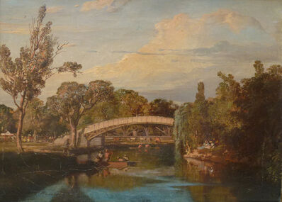 Louis Buvelot, 'The Yarra Footbridge', 1866
