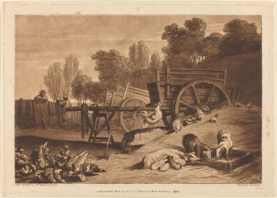 J. M. W. Turner, 'The Farm-yard with the Cock', published 1809