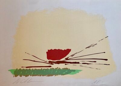 Dan Christensen, 'Lyrical Abstract Expressionist Color Field Silkscreen Lithograph Signed', 1980-1989