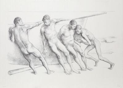 Francisco Zúñiga, 'Hombres con Barca I', 1984