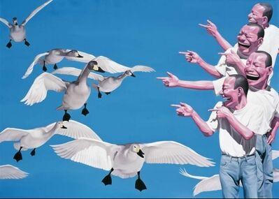 Yue Minjun, 'Big Swans', 2009