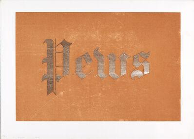 Ed Ruscha, 'Mews, Pews, Brews, Stews & Dues', 1970