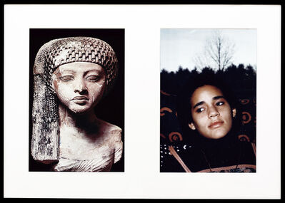 Lorraine O'Grady, 'Miscegenated Family Album (World Princesses), L: Nefertiti's daughter, Merytaten; R: Devonia's daughter, Kimberley', 1980/1994