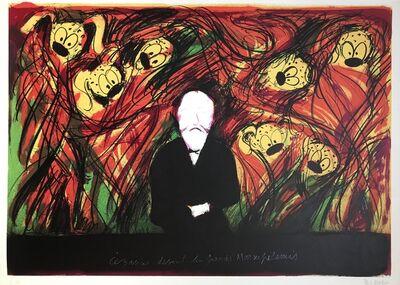 """Jean Messagier, 'Cézanne devant les grands Marsupilamis""""'"""