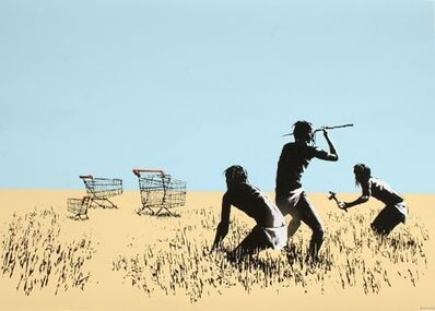Banksy, 'Trolleys signed', 2006