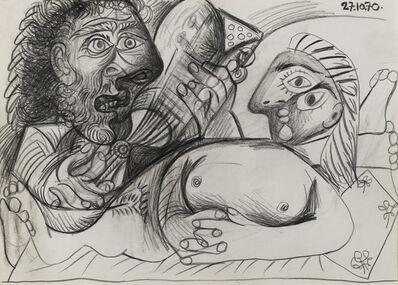 Pablo Picasso, 'Homme à la guitare et nu couché (Homme et nu allongé)', 1970