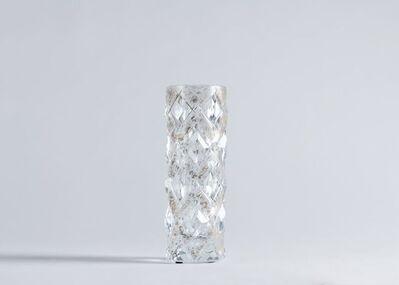 Cristal Benito, 'Vase Doré, Contemporary Hand-Cut Crystal Vase', France-2018