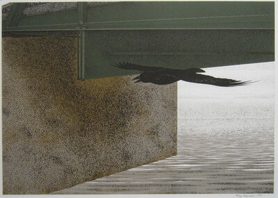 Alex Colville, 'Bridge and Raven', 1993