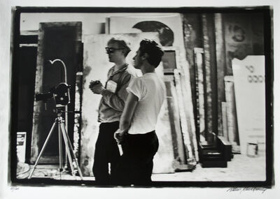 William John Kennedy, 'Andy Warhol with assistant Gerard Malanga filming Taylor Mead's Ass', 1964