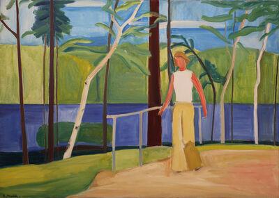 Louisa Matthíasdóttir, 'Maine, Girl on Bridge', 1976