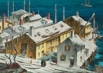 Henry Gasser, 'Winter Wharf', ca. 1950s-1960s