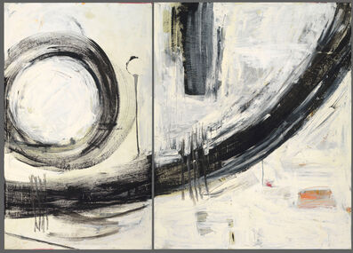 Deborah Hake Brinckerhoff, 'White Abstract (diptych)', 2019