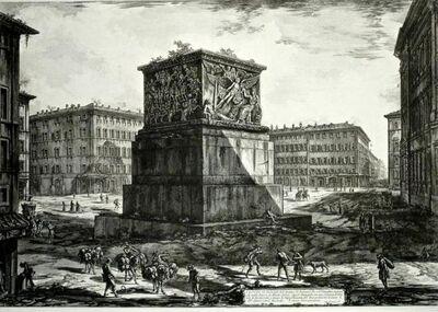 """Giovanni Battista Piranesi, 'Veduta del Piedestallo dell'Aposteosi, from """"Trofeo o sia Magnifica Colonna Coclide""""', ca. 1774"""