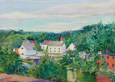 Lilla Cabot Perry, 'Cottages, Spring'