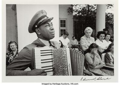 Edward Clark (1911-2000), 'C.P.O. Graham Jackson, Warm Springs, Georgia, mourning the death of FDR, April 23', 1945