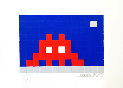 Invader, 'HOME - MOON', 2010