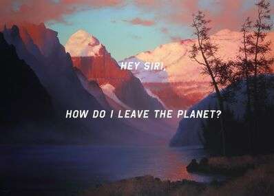 Shawn Huckins, 'Evening Glow At Lake Louise: Hey Siri, How Do I Leave The Planet?', 2019