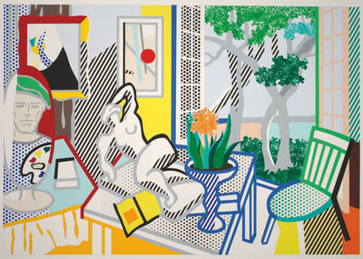 Roy Lichtenstein, 'Bellagio Hotel Mural: Still Life with Reclining Nude (Study)', 1997