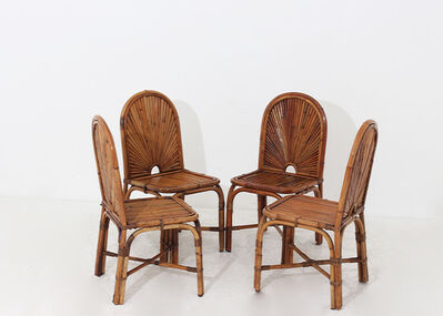 Gabriella Crespi, 'Set of four chairs by Gabriella Crespi - Rising sun series', 1974
