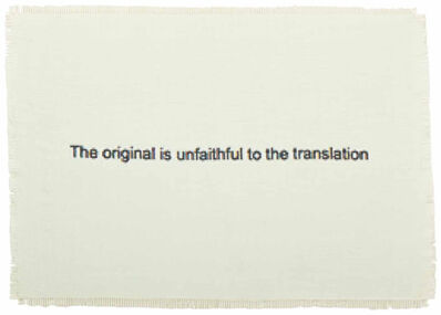 Dan Halter, 'The Original is Unfaithful to the Translation', 2015