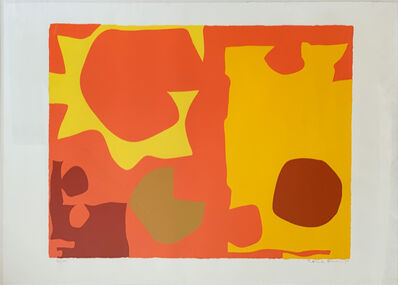Patrick Heron, 'Six in Light Orange with Red in Yellow', 1970