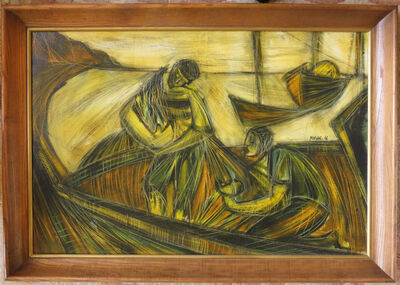 Moshe Katz, 'Untitled - Fisherfolk', 1966