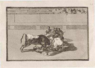 Francisco de Goya, 'Caida de un picador de su caballo debajo del toro (A Picador is Unhorsed and Falls under the Bull)', in or before 1816