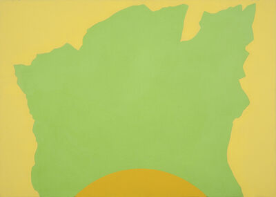 Sydney Ball, 'Silhouette Rock with Yellow Curve', 2004