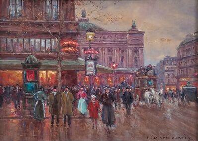 Edouard Léon Cortès, 'Place de La Opera, Paris, France', ca. 1935