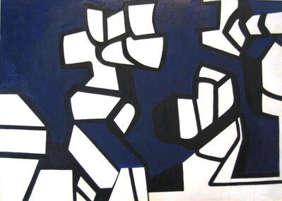 Nell Blaine, 'White Figures on Blue', 1946